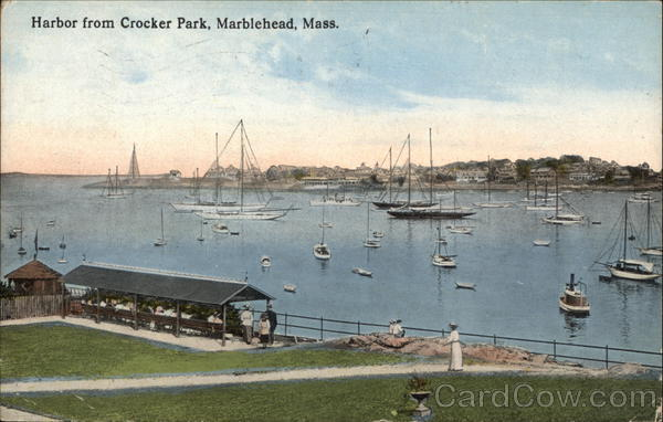 Harbor from Crocker Park Marblehead Massachusetts
