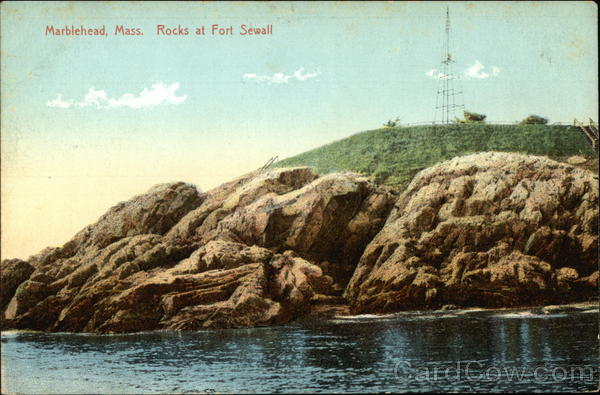 Rocks at Fort Sewell Marblehead Massachusetts
