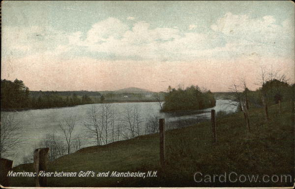 Merrimac River between Goff's and Manchester New Hampshire