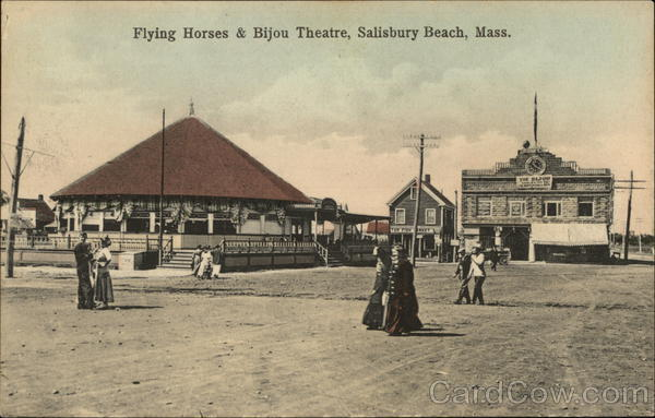 Flying Horses & Bijou Theater Salisbury Beach Massachusetts
