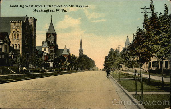 Looking West from 10th Street on 5th Avenue Huntington West Virginia