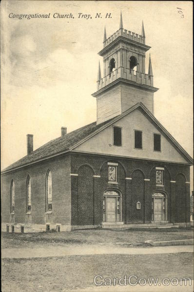 Congregational Church Troy New Hampshire W. L. Metcalf