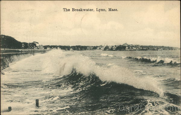 View of The Breakwater Lynn Massachusetts