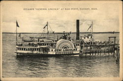"Steamer ""General Lincoln"" at Bass Point"