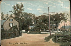 View of Town Square Postcard