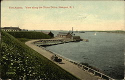 Fort Adams, View Along the Shore Drive