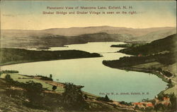 Panoramic View of Mascoma Lake Postcard