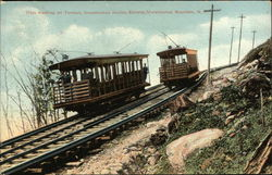 Cars Meeting on Turnout, Uncanoonuc incline Railway