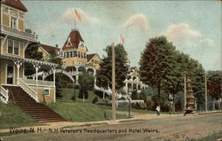 NH Veteran's Headquarters and Hotel Weirs Postcard