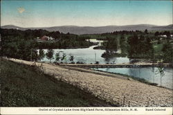 Outlet of Crystal Lake from Highland Farm