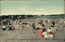 Beach Scene Showing Boulevard