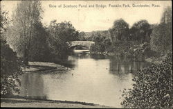 View of Scarboro Pond and Bridge, Franklin Park