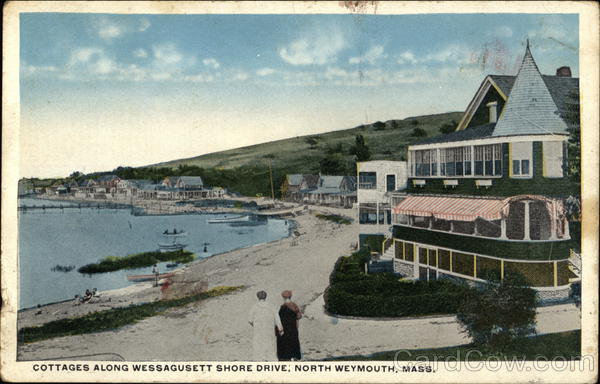 Cottages Along Wessagusett Shore Drive North Weymouth Massachusetts