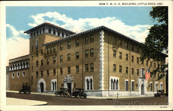 New ymca building little rock ar postcard for Cost to build a house in little rock
