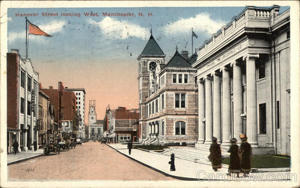 Hanover Street Looking West Manchester New Hampshire