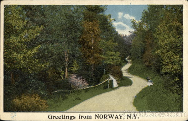 Greetings from Norway, NY New York