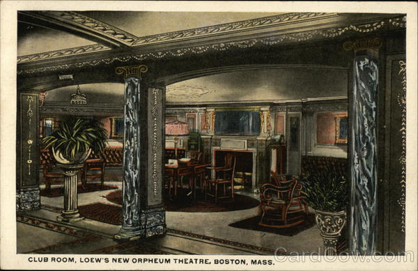 Club Room, Loew's New Orpheum Theatre Boston Massachusetts