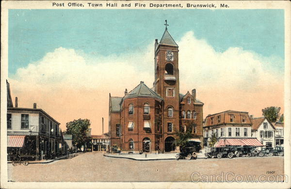 Post Office, Town Hall and Fire Department Brunswick Maine