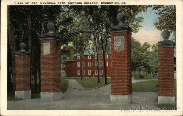 Bowdoin College - Class of 1878 Memorial Gate Brunswick Maine