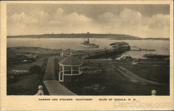 Harbor and Steamer Sightseer Isles of Shoals New Hampshire