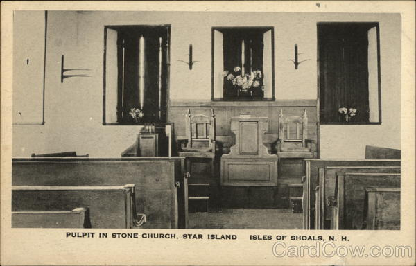 Pulpit in Stone Church, Star Island Isles of Shoals New Hampshire