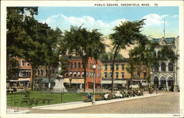 Public Square Greenfield Massachusetts