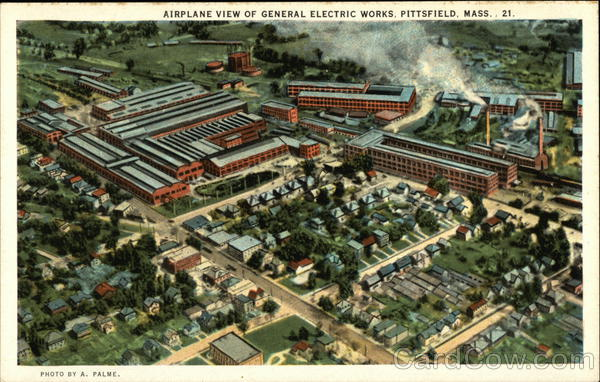 Airplane View of General Electric Works Pittsfield Massachusetts