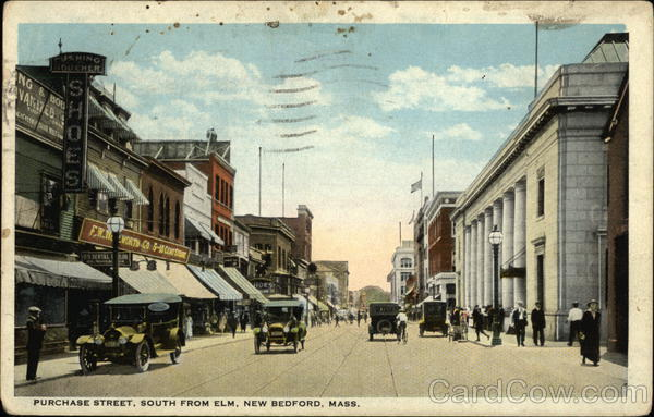 Purchase Street, South From Elm New Bedford Massachusetts