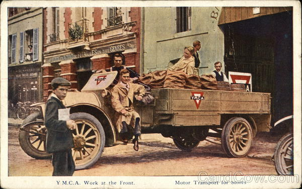 Y.M.C.A. Work at the Front - Motor Transport For Stores