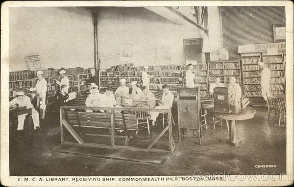 YMCA Library Receiving Ship, Commonwealth Pier Boston Massachusetts