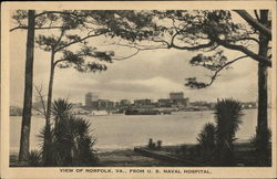View of Norfolk, Va., From U.S. Naval Hospital