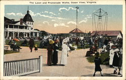 Lawn and Promenade Walks Postcard
