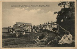 Watching the Ball Game Postcard