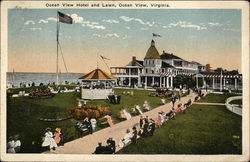 Ocean View Hotel and Lawn Postcard