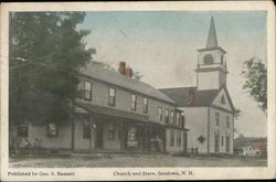 Church and Store, Sandown, NH