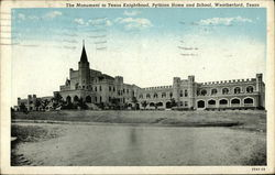 The Monument to Texas Knighthood, Pythian Home and School Postcard