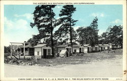 The Historic Old Southern Capital and Surroundings - Cabin Camp, U.S. Route No. 1