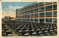 The Ford Motor Plant and 3,000 Cars. A Single Day's Output