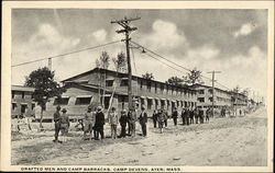 Drafted Men and Camp Barracks, Camp Devens