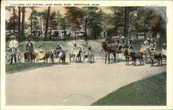 Children Joy Riding, Lake Pearl Park Postcard