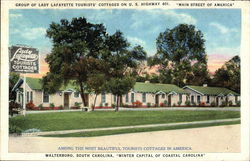 "Group of Lady Lafayette Tourists' Cottages on U.S. Highway 401, ""Main Street of America"""