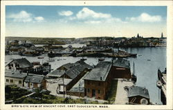 Bird's Eye View of Vincent Cove Postcard