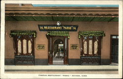 Famous Restaurant Paris