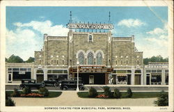 Norwood Theatre From Municipal Park Postcard