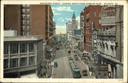Peachtree Street, Looking North From Candler Building