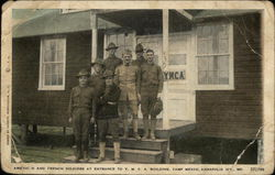 American and French Soldiers at Entrance to Y.M.C.A. Building, Camp Meade