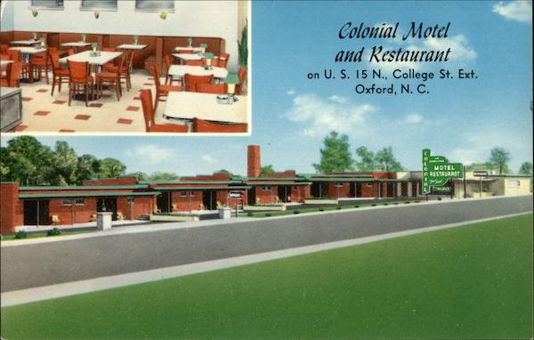 Colonial Motel and Restaurant Oxford North Carolina