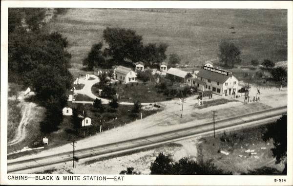 Black and White Cabins and Filling Station Fort Wayne Indiana