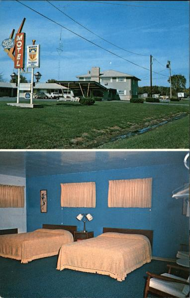 City Of Lawrenceville Gas >> The Tully's Gas Lite Motel Lawrenceville, IL Postcard