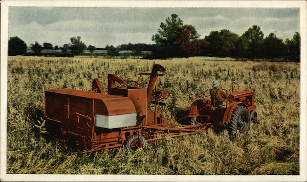 Allis-Chalmers All-Crop Harvester Farming Advertising